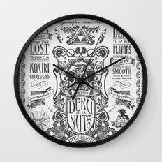 Legend of Zelda inspired Deku Nuts Vintage Advertisement Wall Clock