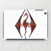 skyrim iPad Cases featuring Skyrim Alduin by Rubis Firenos
