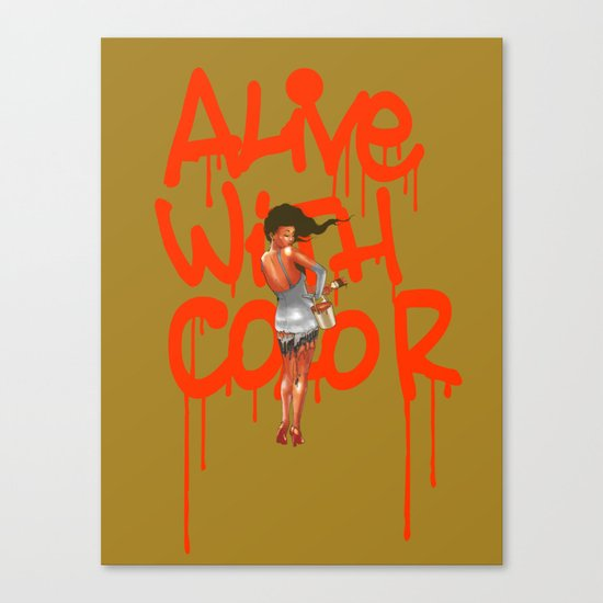 Alive with Color Canvas Print