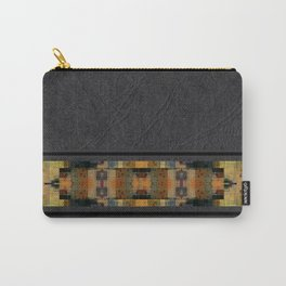 Textured Southwestern Stripe Pattern Carry-All Pouch