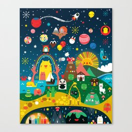 Super Mini Universe Print Canvas Print