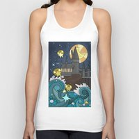 hogwarts Tank Tops featuring Hogwarts by Lacey Simpson