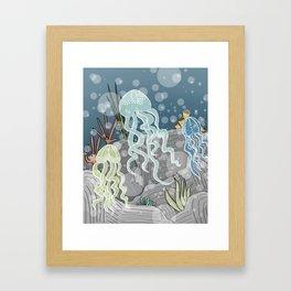 Floatin' Jellyfish Framed Art Print