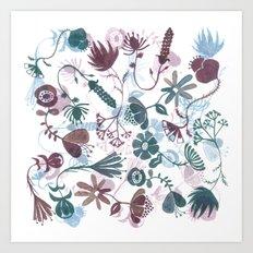 autumn flowers Art Print