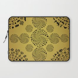 Mandala of Love Symbols from Ancient Cultures on Papyrus Laptop Sleeve