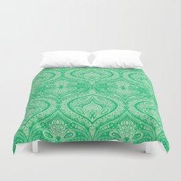 Simple Ogee Green Duvet Cover