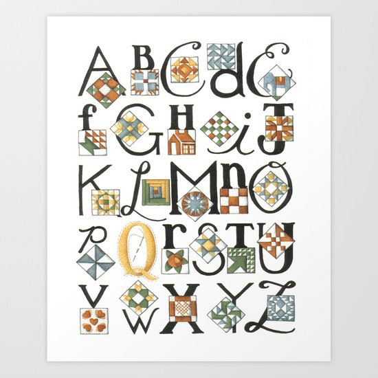 The ABC's of Quilting Art Print