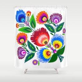 colorful folk flowers Shower Curtain