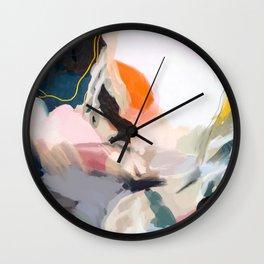 apricot dawn Wall Clock