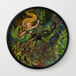 Mermaid Melodies Wall Clock