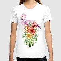 flamingo T-shirts featuring Flamingo by Julia Badeeva