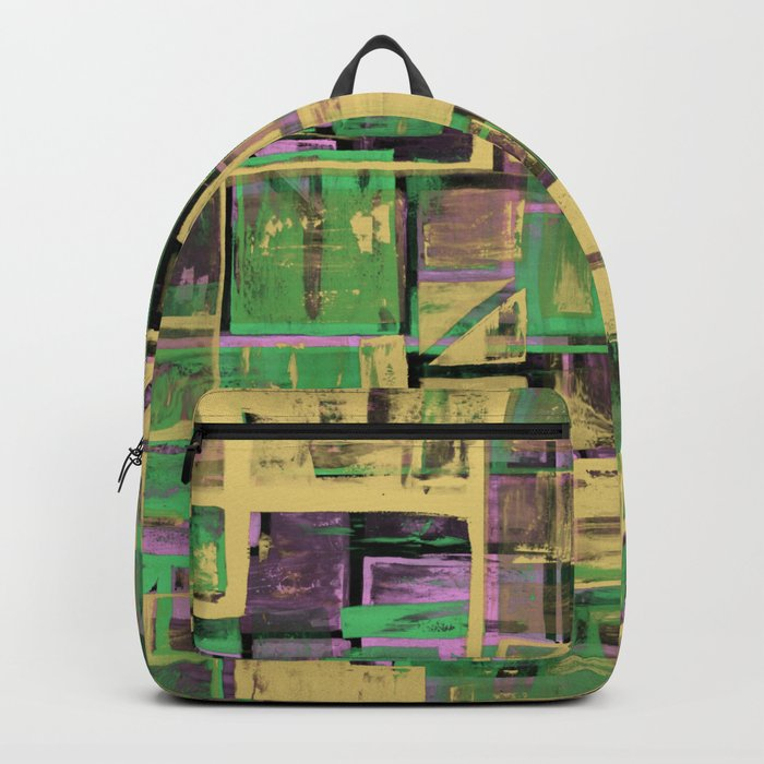 Pastel Thoughts - Abstract, textured, pastel painting Backpack