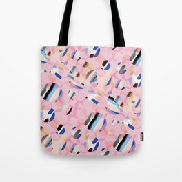 Pink Abstract Platelet #expressive #pink Tote Bag