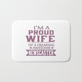 I'M A PROUD NEWSCASTER'S WIFE Bath Mat