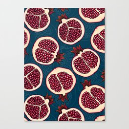 Pomegranate slices Canvas Print