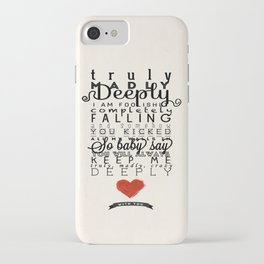 One Direction: Truly Madly Deeply iPhone Case