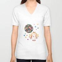 saga V-neck T-shirts featuring the neverending saga by kemiemo