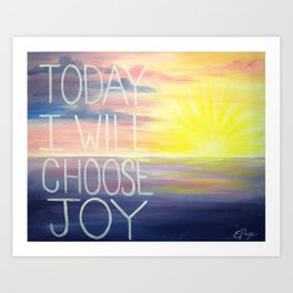 Choose Joy Art Print