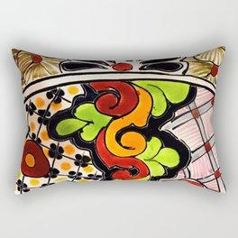 Beautiful Red and Green Talavera Rectangular Pillow