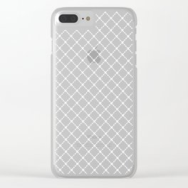 Dotted Grid 45 Black Clear iPhone Case