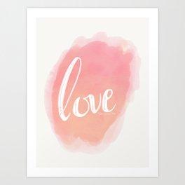 Pretty Love Print With Arrows Art Print