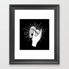 Always say goodbye Framed Art Print