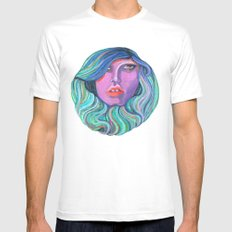 Pretty Oceanic Ombre Face White MEDIUM Mens Fitted Tee