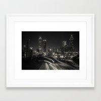 atlanta Framed Art Prints featuring Atlanta by ken fager