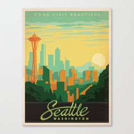 Vintage poster - Seattle Canvas Print