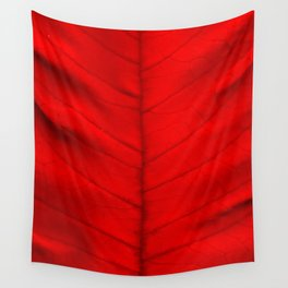 Poinsettia's leaf Wall Tapestry