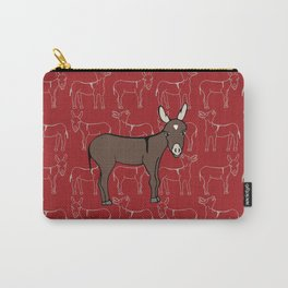 © Litte Burro Wild West Red Carry-All Pouch