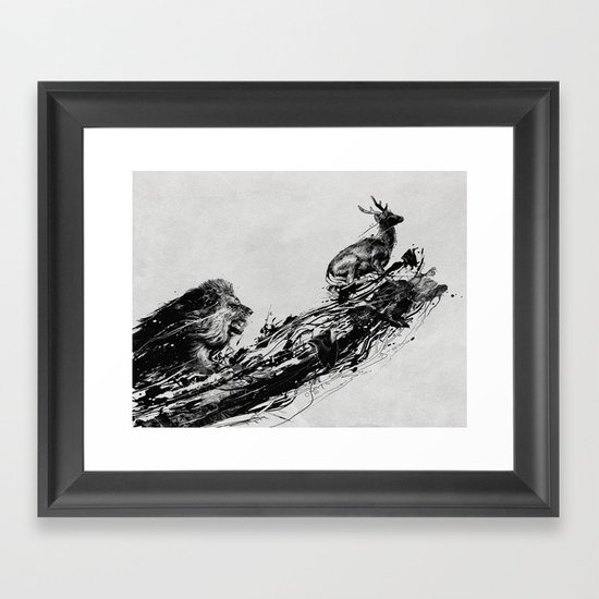 Intense Chasing Framed Art Print