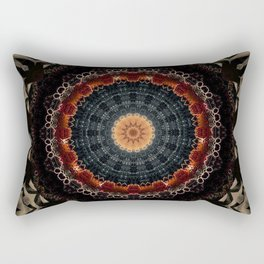 Vintage Bronze Mandala Rectangular Pillow