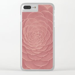 FAT PLANT PINK Clear iPhone Case