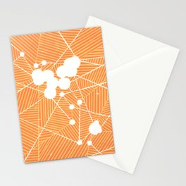 World Flight Path Map Stationery Cards
