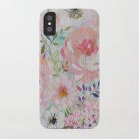 craftberrybush iPhone & iPod Cases featuring Acrylic rose garden  by craftberrybush