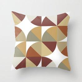 Brown Pies Throw Pillow