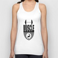 muscle Tank Tops featuring MUSCLE  by Robleedesigns