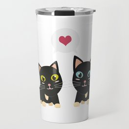 Cats in Love Travel Mug