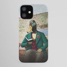 Monsieur Mallard Reading an Improving Book iPhone Case