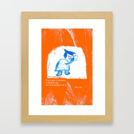 Caveman Problems Framed Art Print