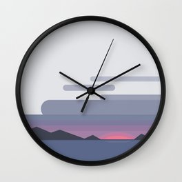 Cloud, Bay, and Sunset Wall Clock