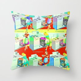 COOKIN' Throw Pillow