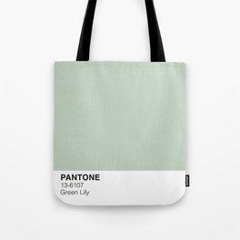 Green Lily Pantone Tote Bag