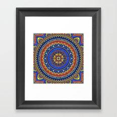 Hippie mandala 57 Framed Art Print