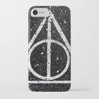 deathly hallows iPhone & iPod Cases featuring Deathly Hallows by Herk Designs