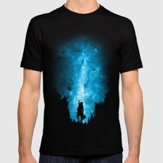 Reach For The Stars Black Mens Fitted Tee MEDIUM