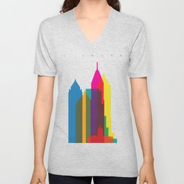 Shapes of Atlanta. Accurate to scale Unisex V-Neck