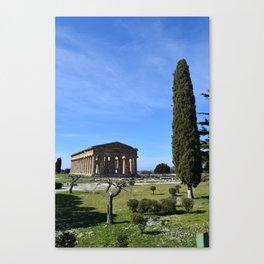 templi di paestum Canvas Print