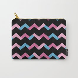 Geometric Chevron Carry-All Pouch